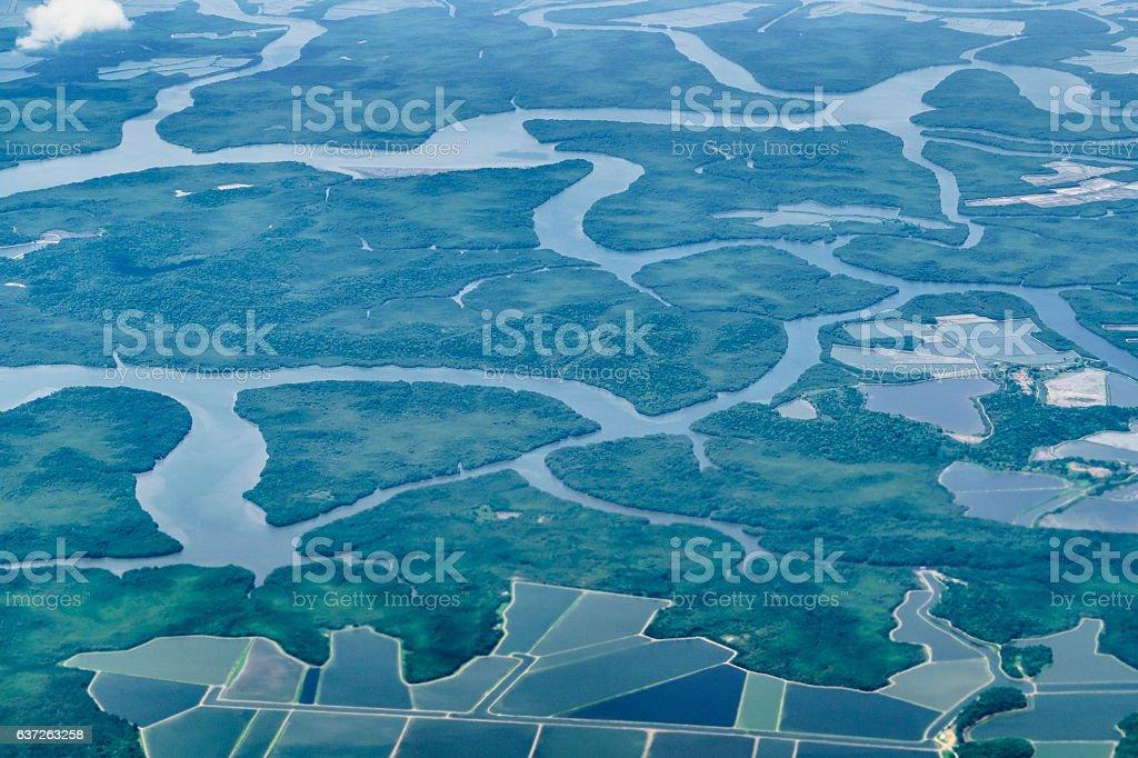 Aerial View Guayaquil Ecuador stock photo