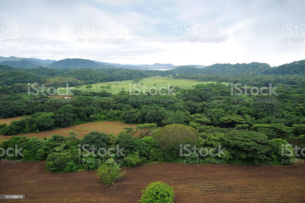 Aerial view in Costa Rica royalty-free stock photo