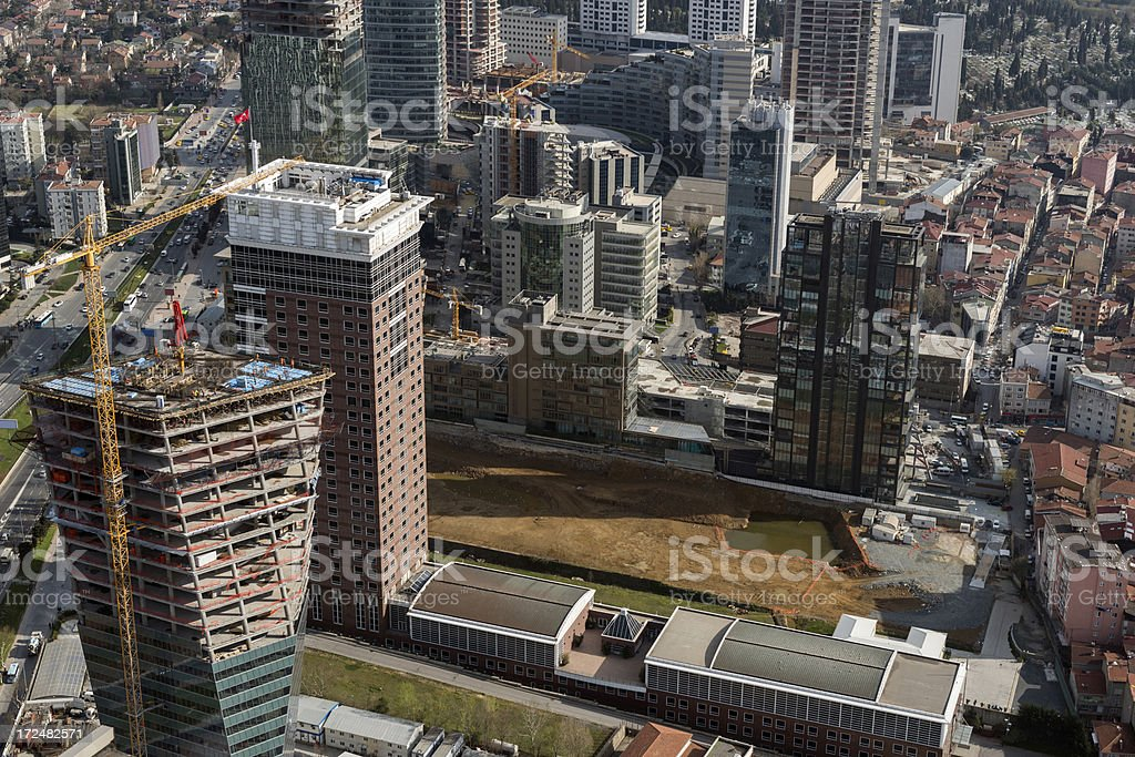Aerial View Istanbul stock photo