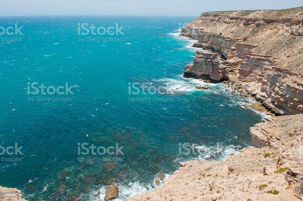 Aerial View Kalbarri Cliff Coast stock photo