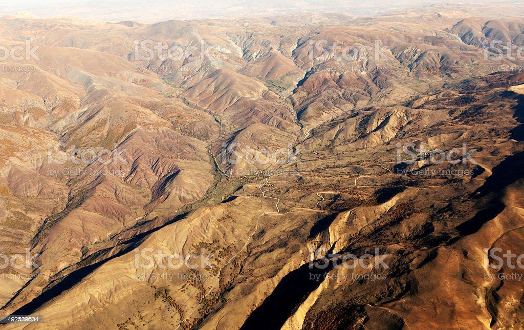 Aerial View Landforms stock photo