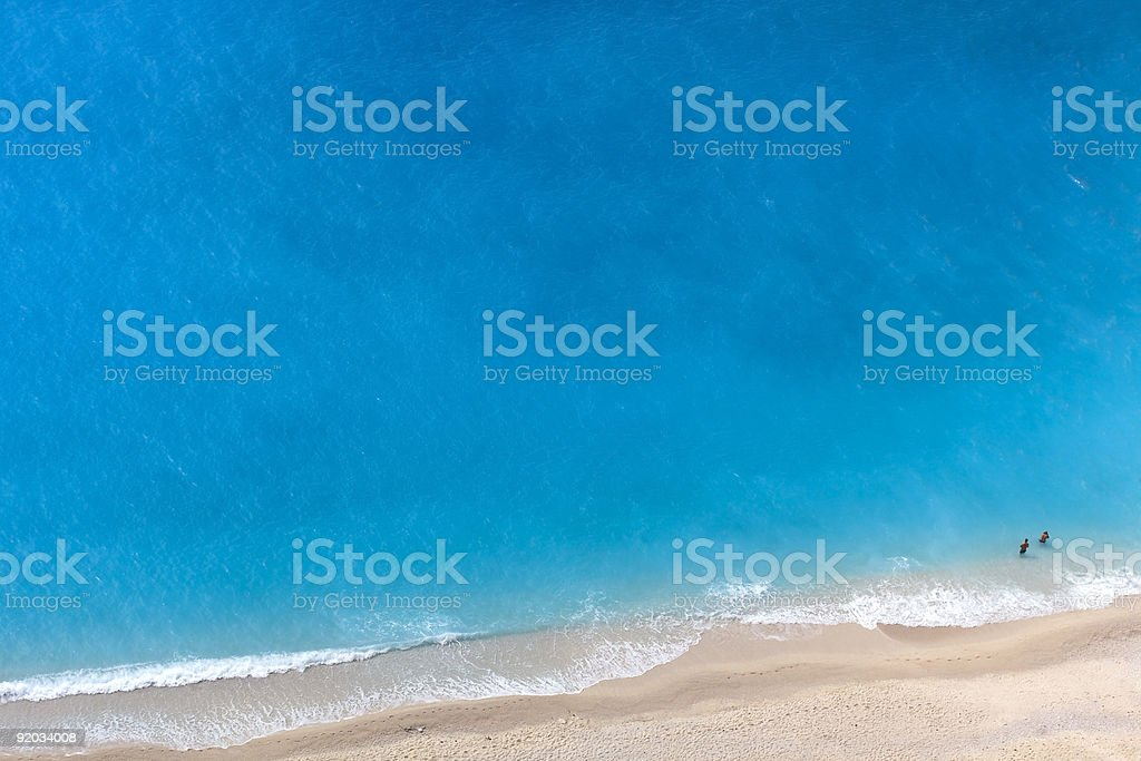 aerial view of a beach royalty-free stock photo