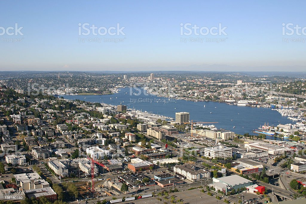 Aerial View of a Lake royalty-free stock photo