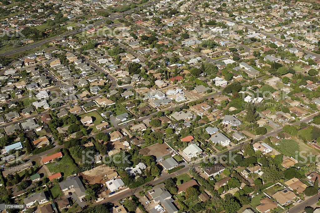 Vue aérienne du quartier. photo libre de droits