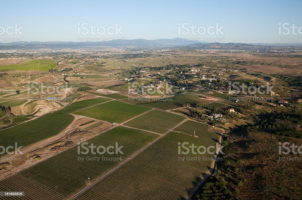 Aerial view of a rural area royalty-free stock photo