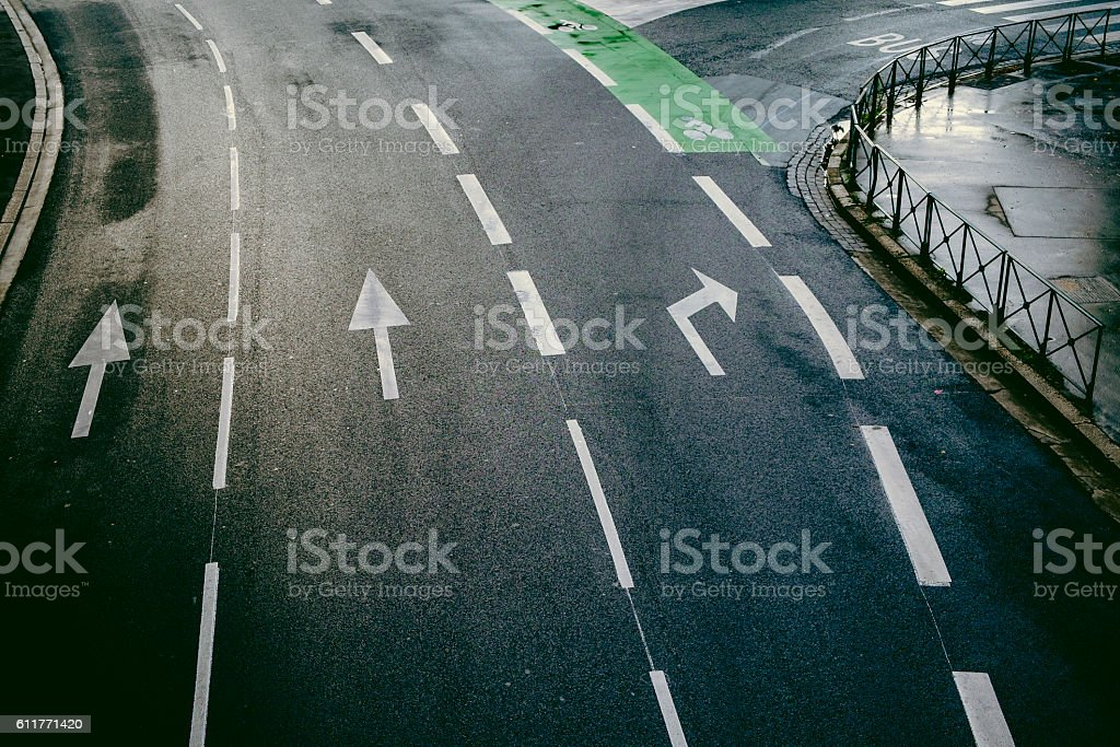 Aerial view of a street in Toulouse France Europe stock photo
