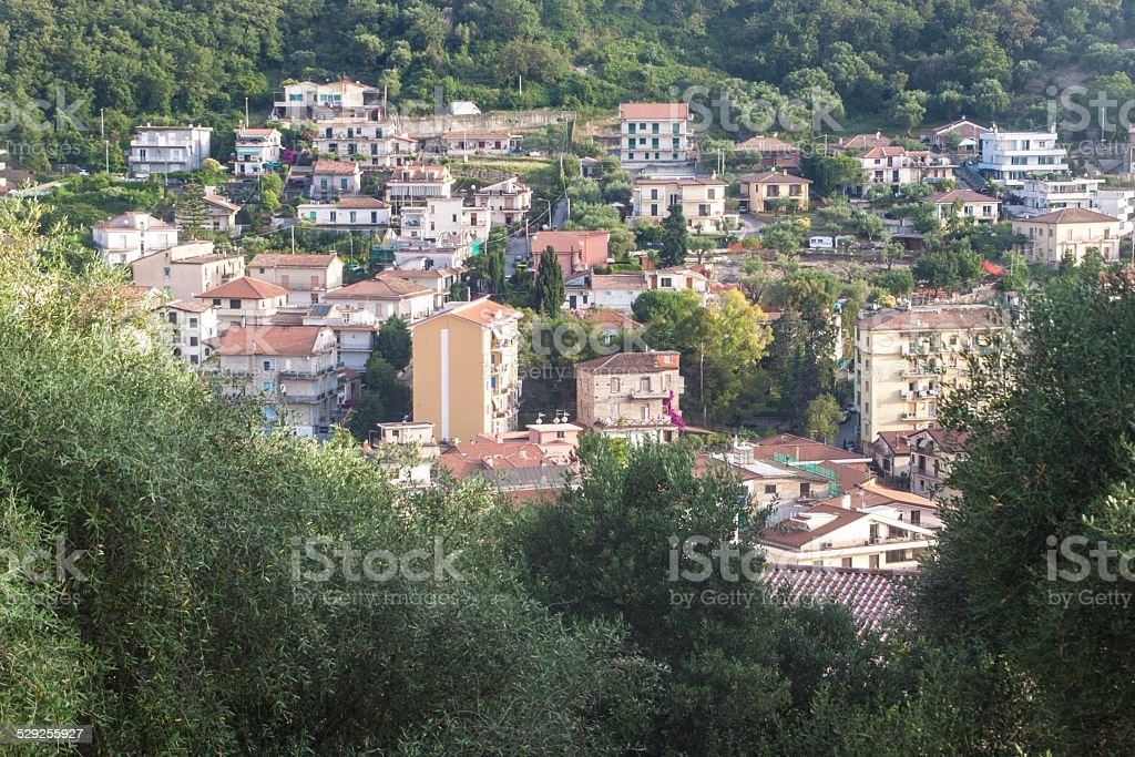 Aerial view of Agropoli stock photo