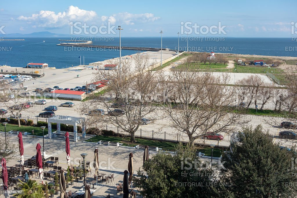 Aerial view of Alexandroupolis stock photo