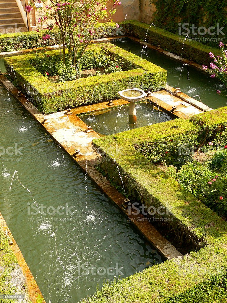Aerial view of Alhambra stock photo