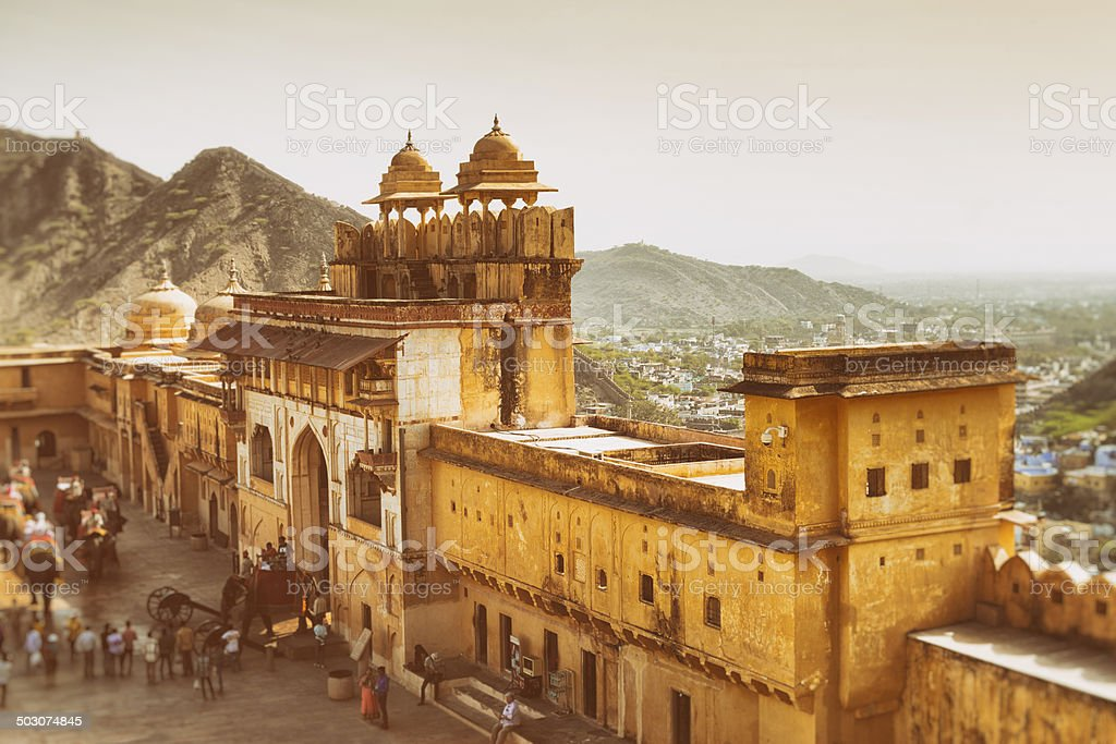 Aerial View of Amber Fort, Jaipur, India stock photo