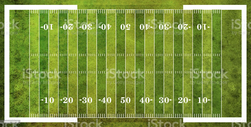 Aerial View of American Football Field stock photo
