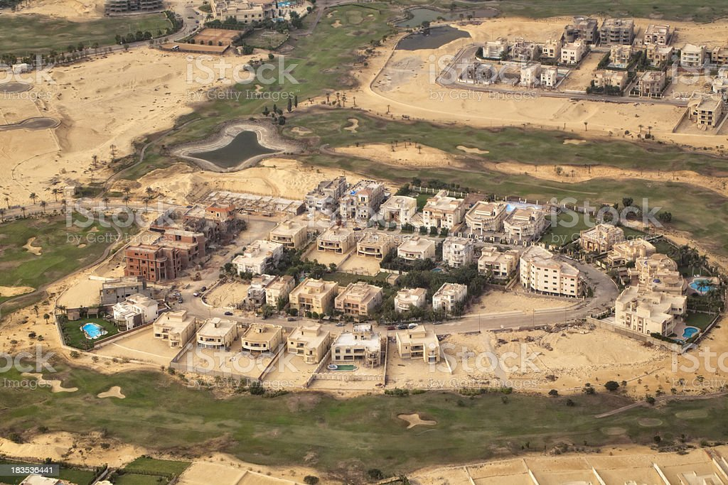 Aerial view of an African urban ( Cairo Egypt ) stock photo
