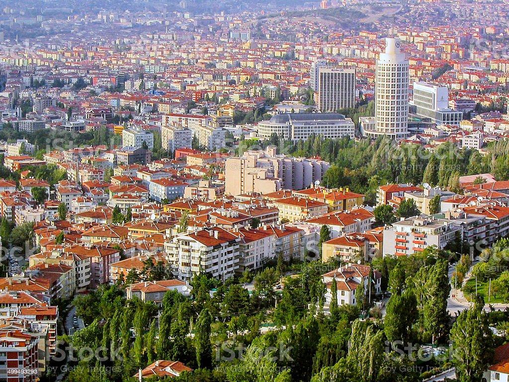 Aerial View of Ankara stock photo
