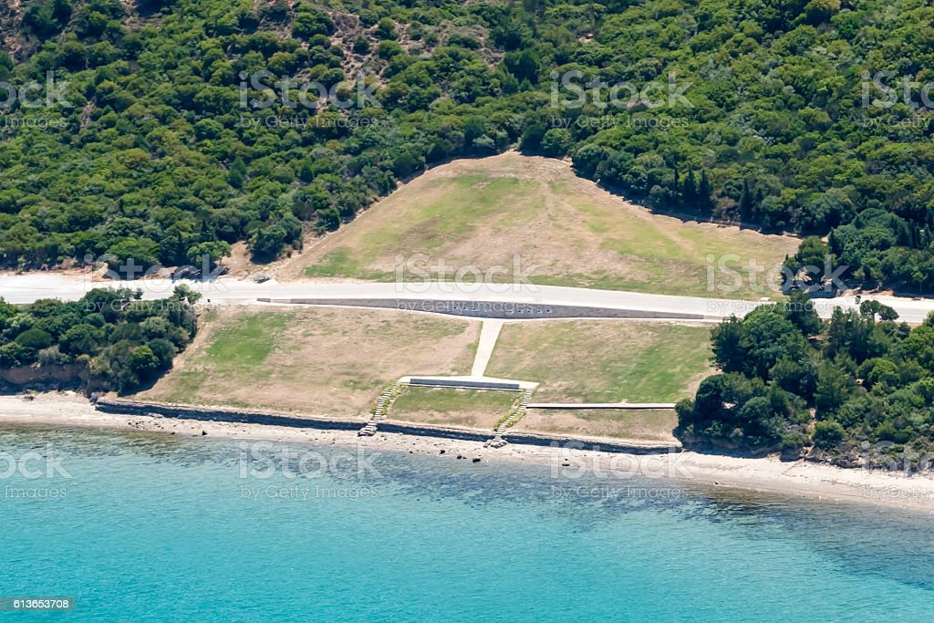 Aerial View of Anzac Military Cemetery stock photo
