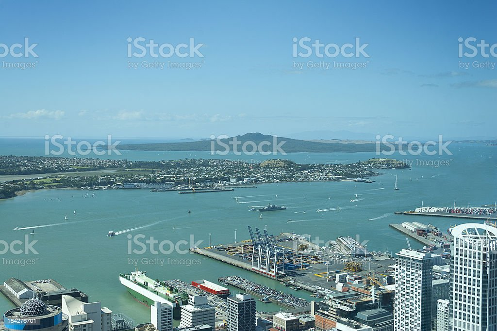 Aerial View of Auckland, New Zealand royalty-free stock photo