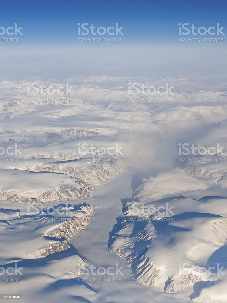Aerial View of Auyuittuq National Park, Baffin Island, Canada royalty-free stock photo