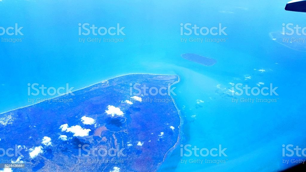 Aerial View of Bali Island stock photo