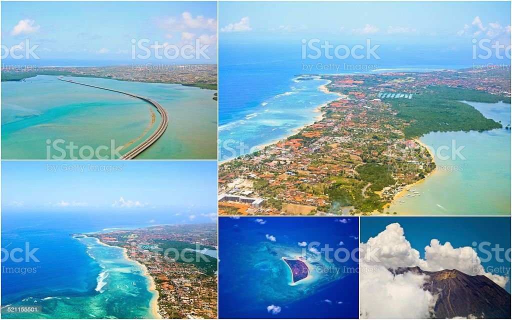 aerial view of Bali stock photo