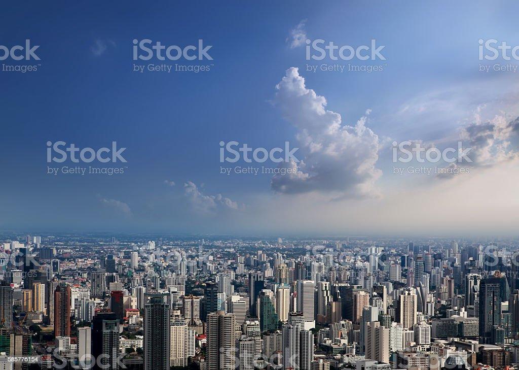 Aerial view of Bangkok City stock photo