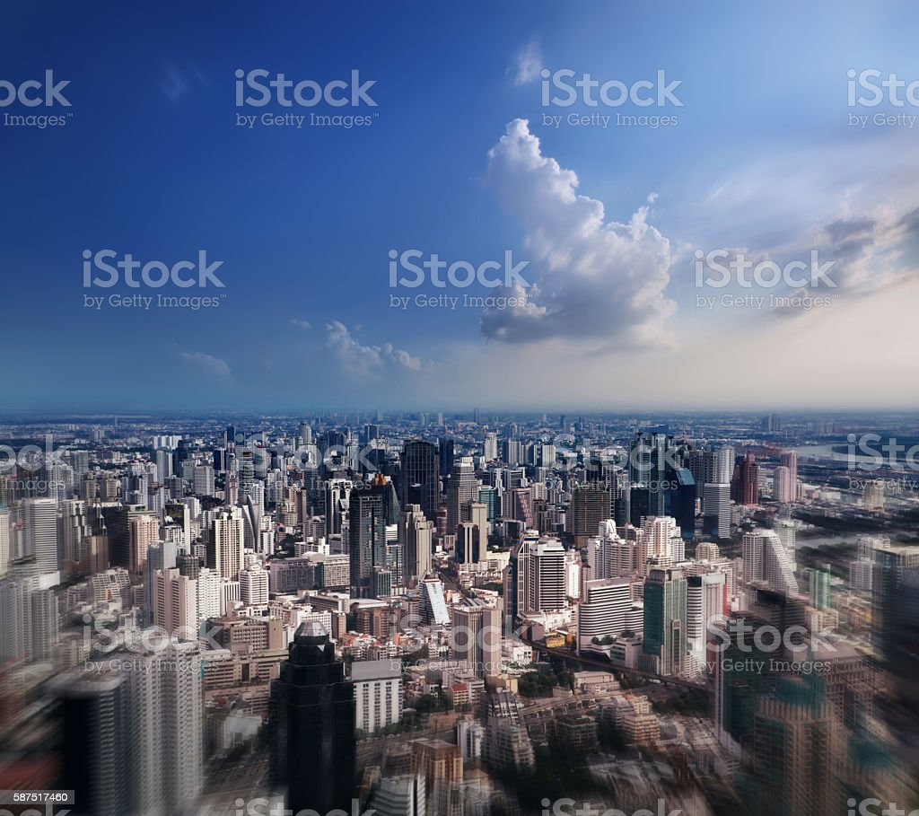 Aerial view of Bangkok City stock photo