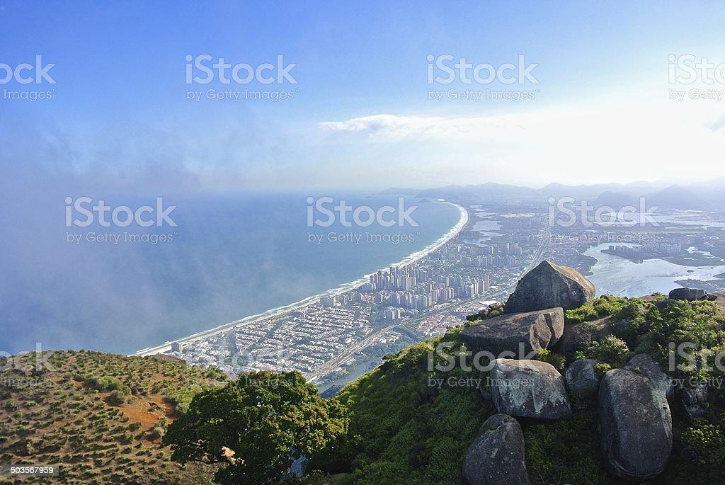 Aerial view of Barra da Tijuca stock photo