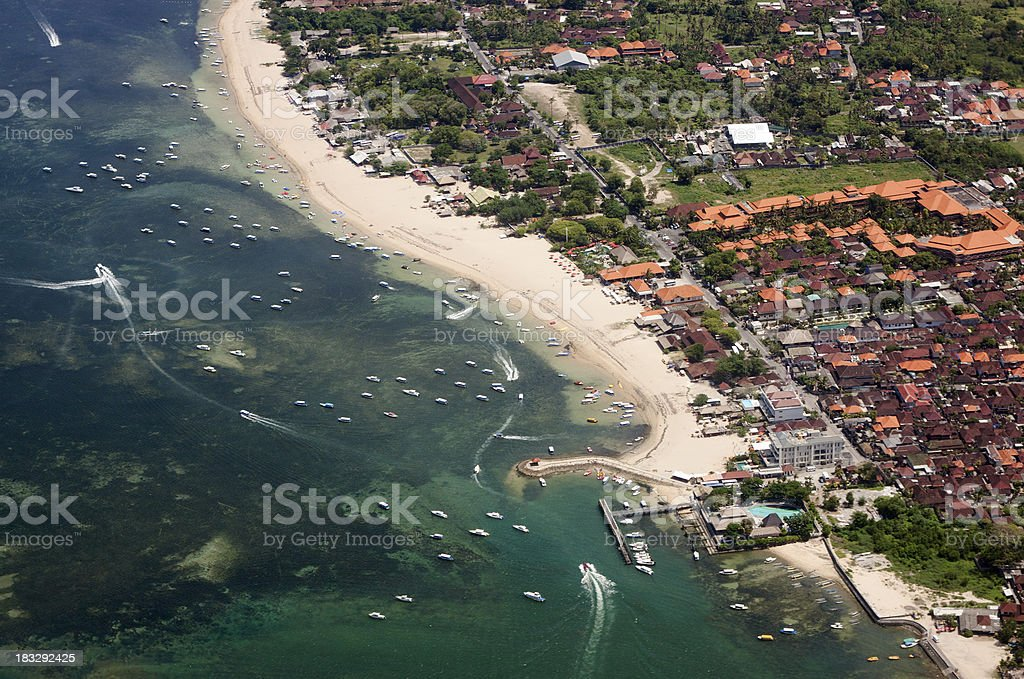 Aerial view of beach area, Bali-Indonesia stock photo