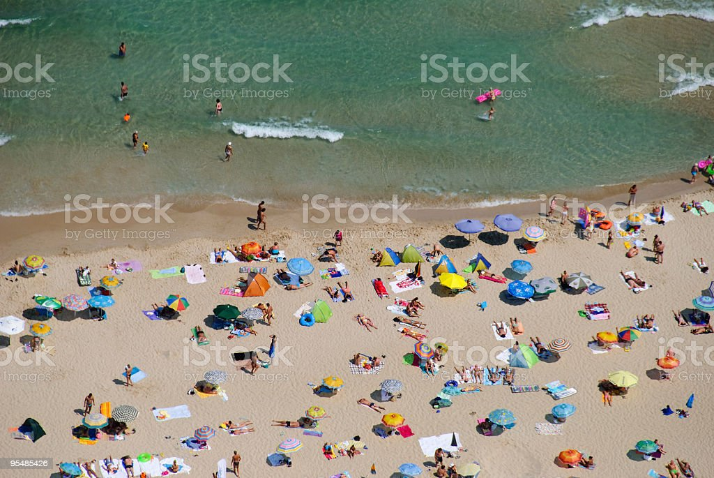 Aerial view of beach stock photo