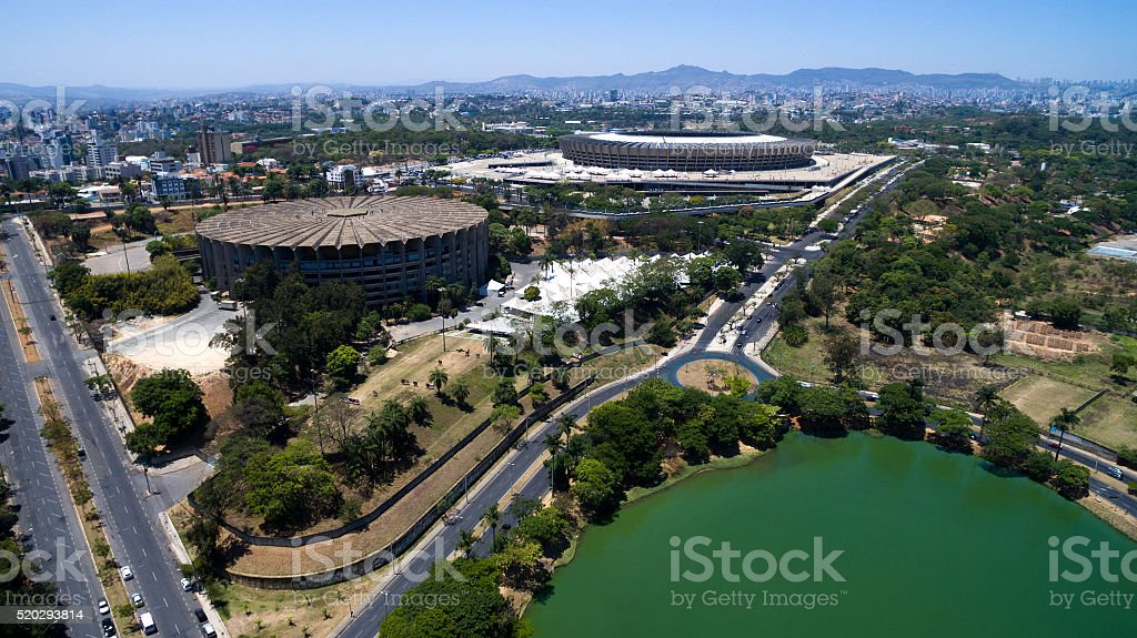 Aerial view of Belo Horizonte in Minas Gerais, Brazil stock photo