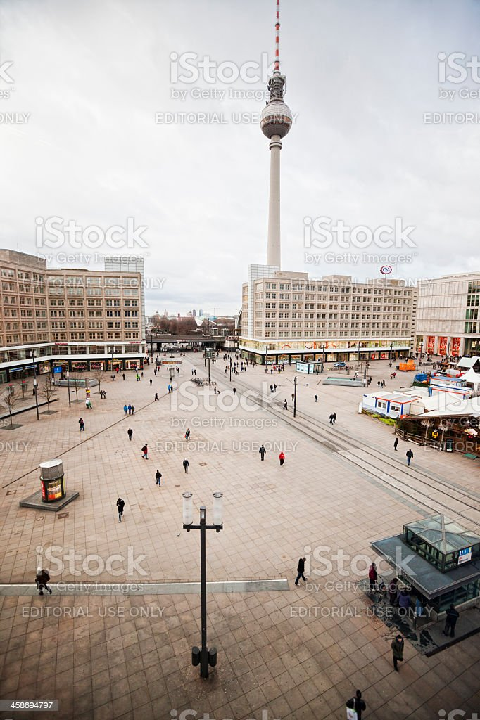 Aerial View of Berlin Alexanderplatz royalty-free stock photo
