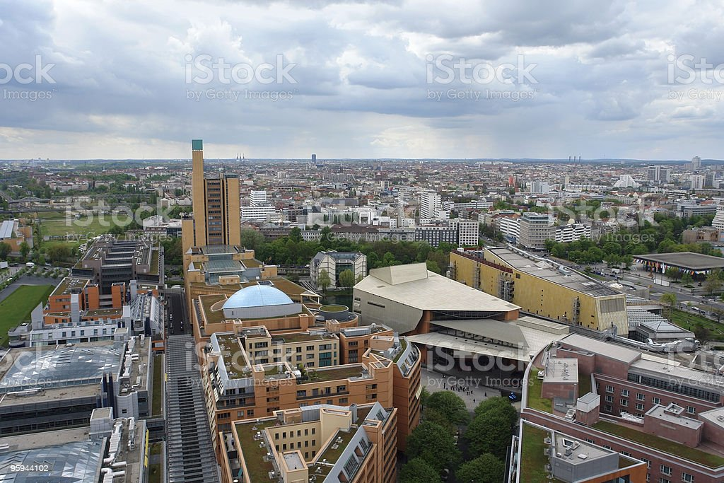 aerial view of Berlin at summer time royalty-free stock photo