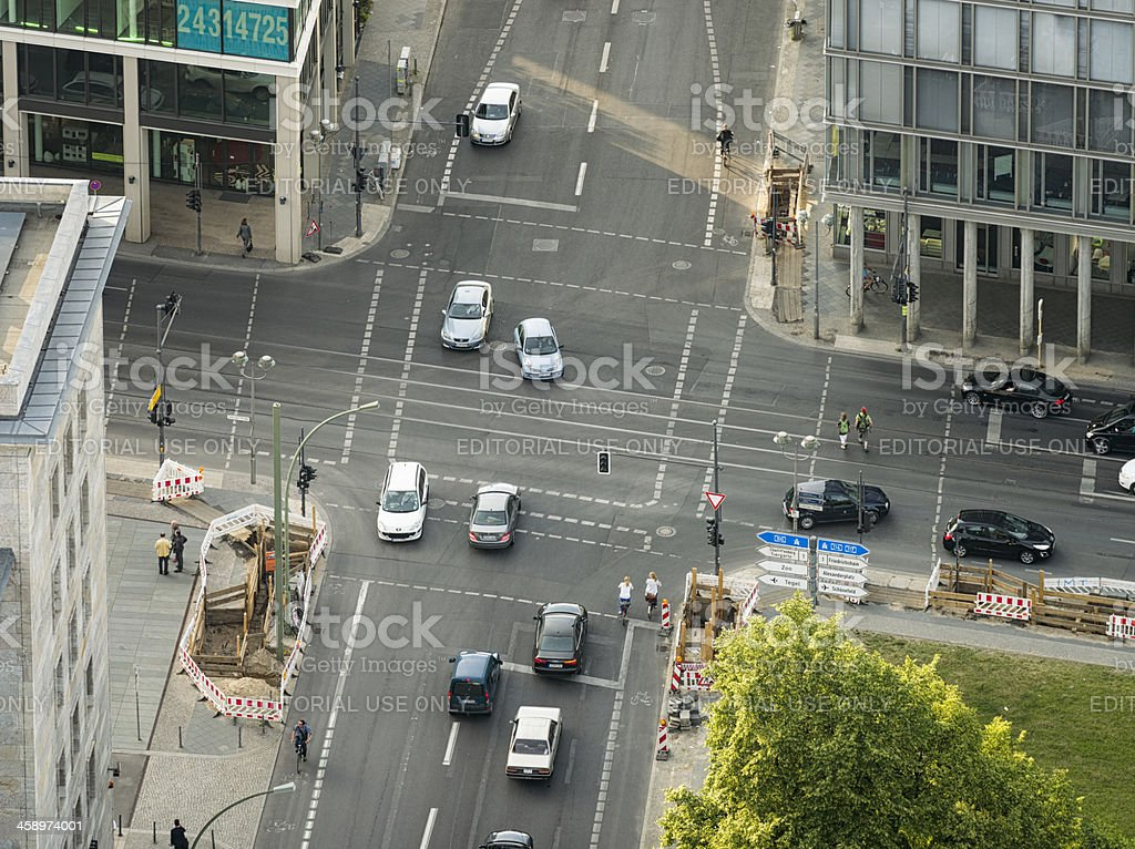 Aerial View of Berlin Intersection stock photo