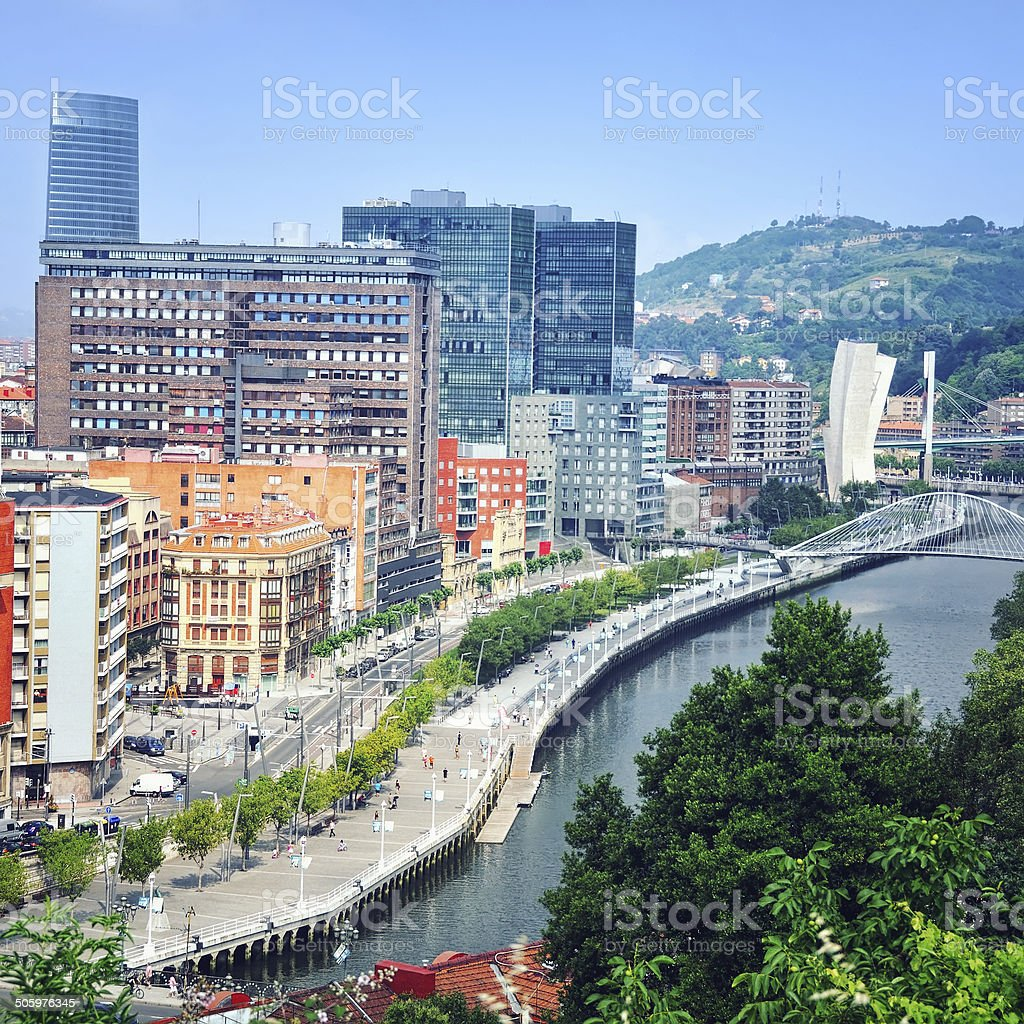 Aerial view of Bilbao stock photo