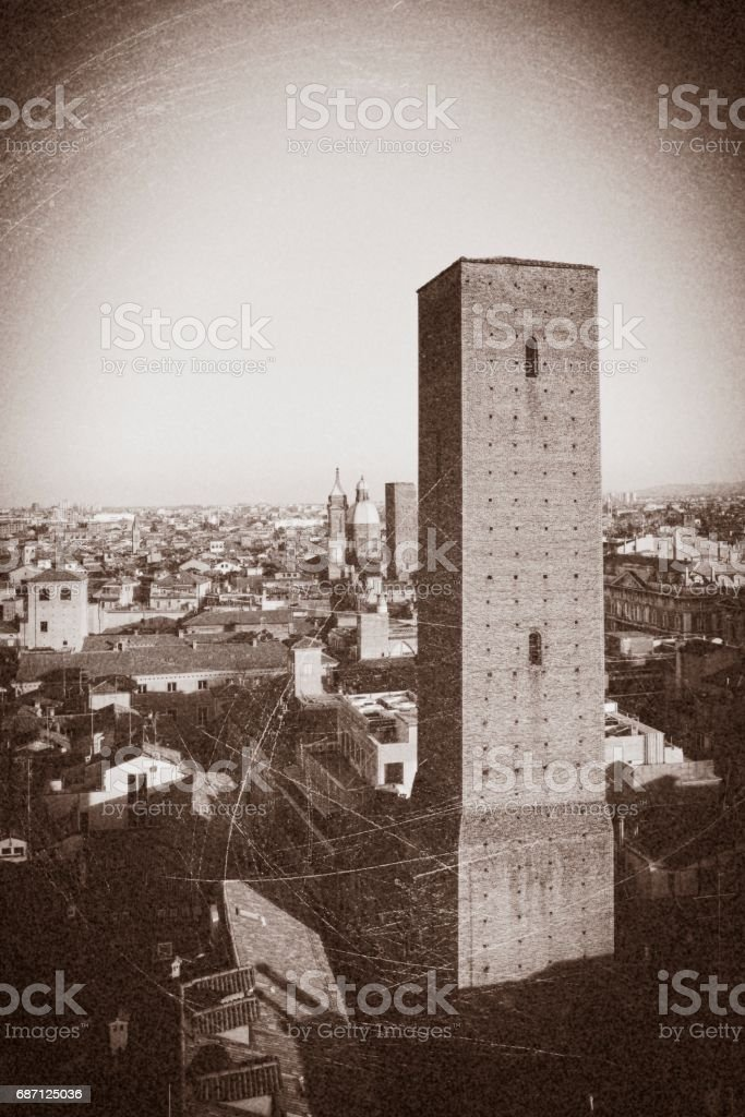 aerial view of bologna stock photo
