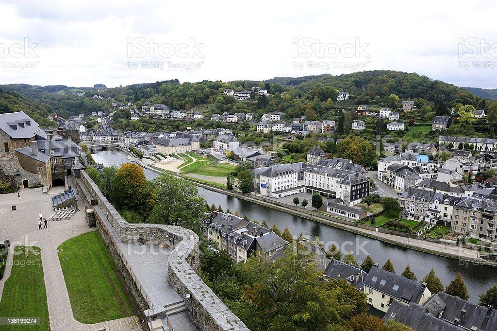 Aerial view of Bouillon stock photo