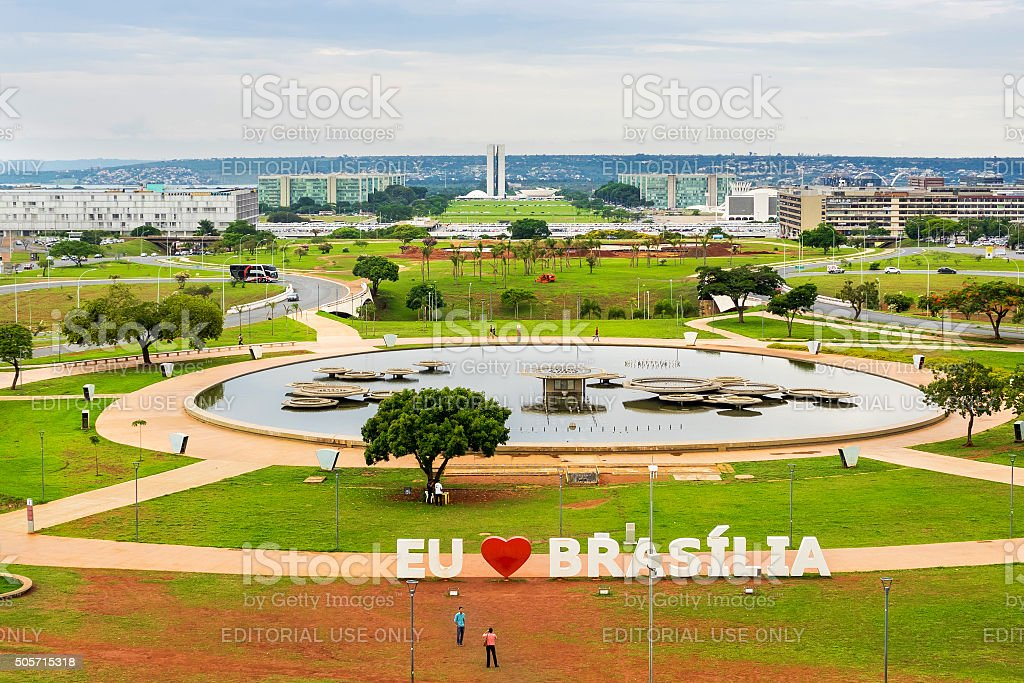 Aerial View of Brasilia, Capital of Brazil stock photo