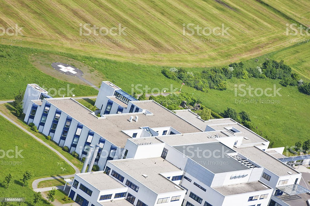 Aerial view of Built Structure stock photo