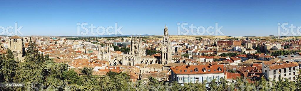 Aerial view of Burgos stock photo