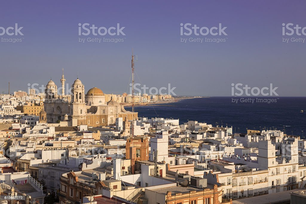 Aerial View of Cadiz stock photo