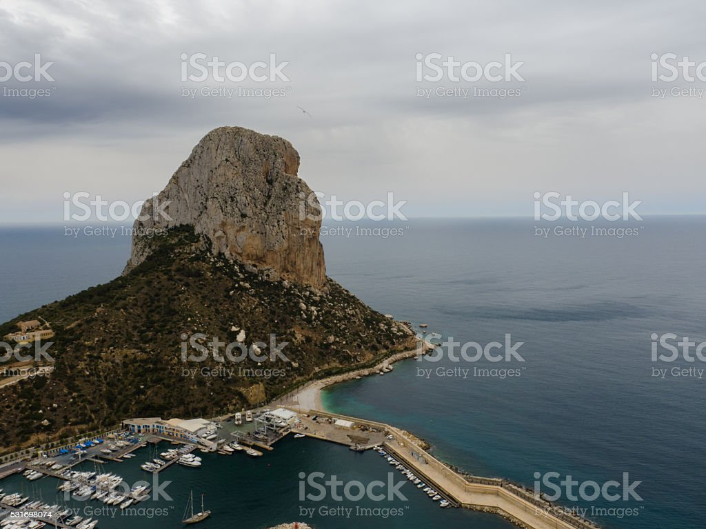 Aerial view of Calpe stock photo
