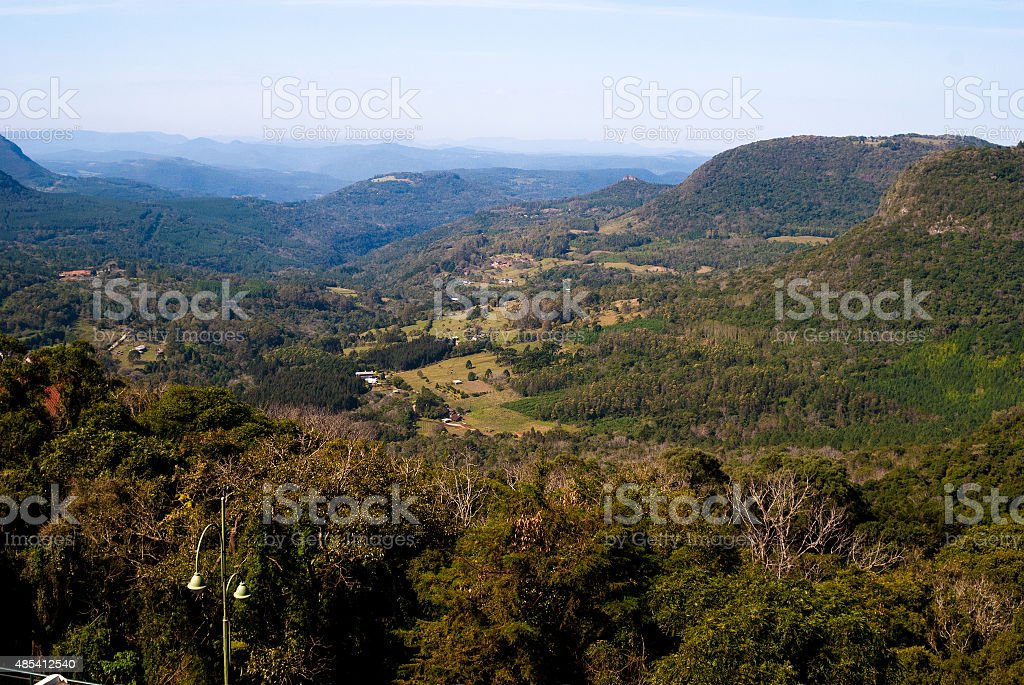 Aerial view of Canela, Rio Grande do Sul in Brazil stock photo