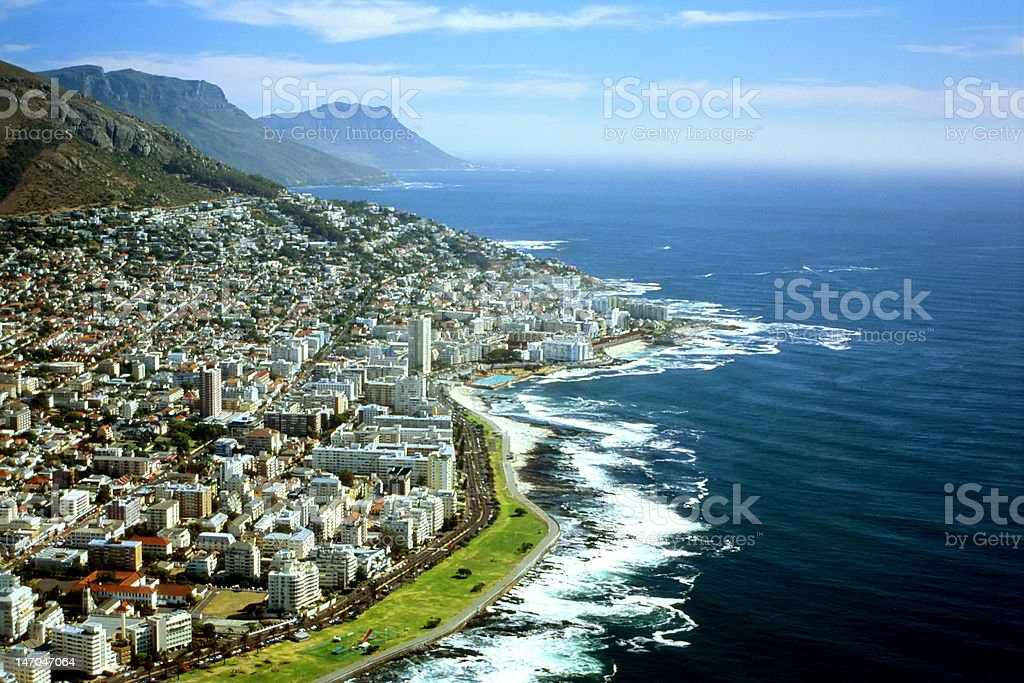 Aerial view of Cape Town, South Africa royalty-free stock photo