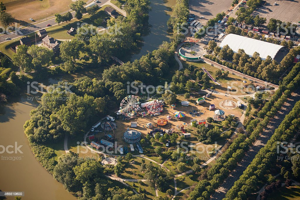Aerial View of Carnival stock photo