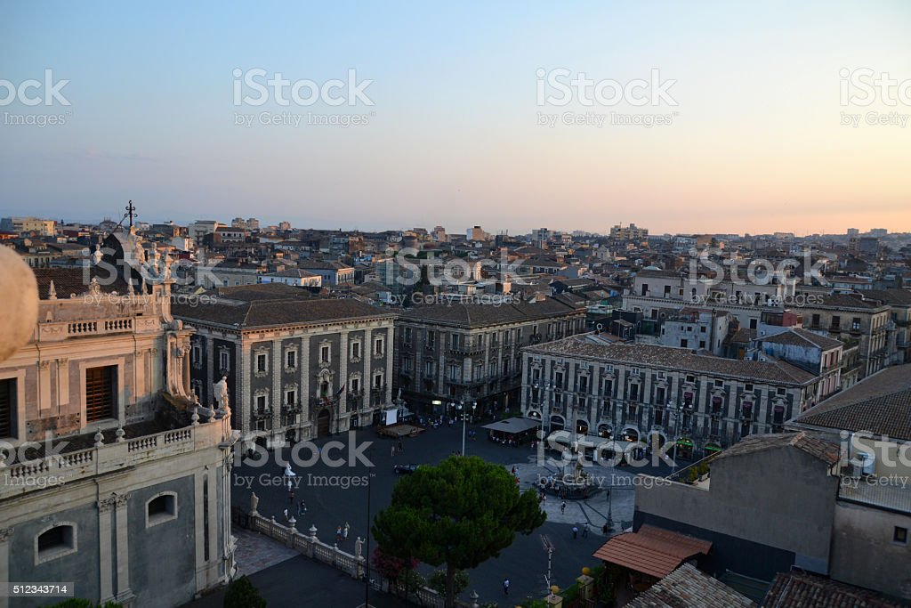 Aerial view of Catania. stock photo