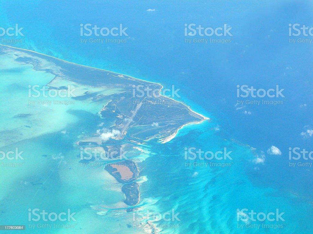 Aerial view of Cayo Largo, Cuba royalty-free stock photo