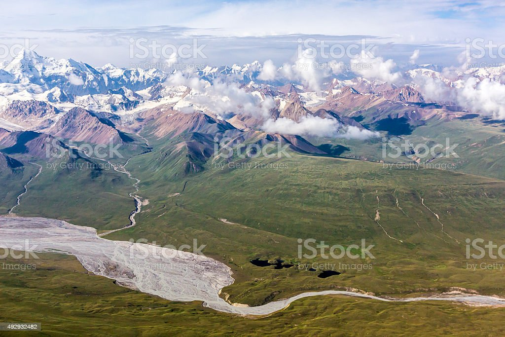 Aerial View of Central Asia Landscape stock photo