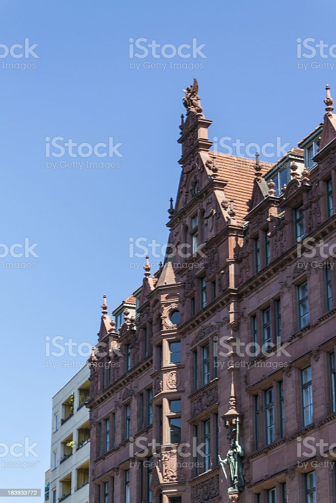 aerial view of central Berlin royalty-free stock photo