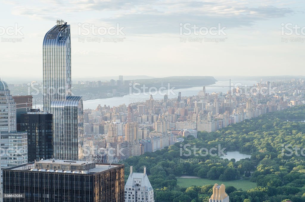 Aerial View Of Central Park New York City U.S.A stock photo