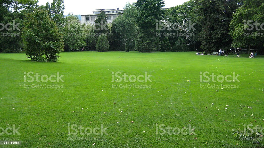 Aerial View of Central Park stock photo