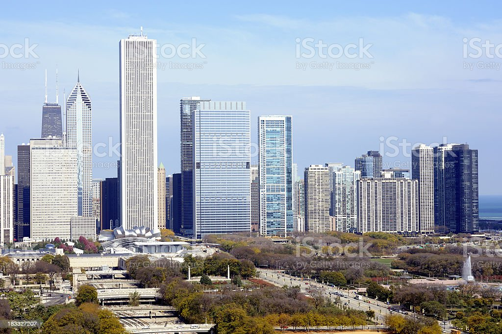 Aerial View of Chicago, Illinois, USA royalty-free stock photo
