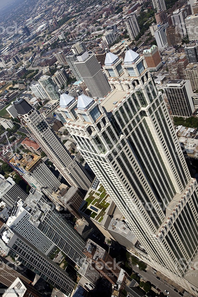 Aerial View of Chicago Skyscrapers royalty-free stock photo